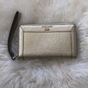 Cole Haan Gold Wallet/wristlet